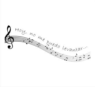 Vinilos decorativos musicales pentagrama con letra for Vinilos decorativos grupos musicales