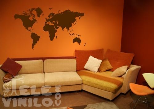 Vinilos decorativos original mapa mundo comprar en for Vinilo mapa del mundo
