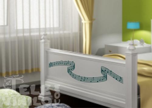 Vinilos decorativos musicales pentagrama curvo comprar - Vinilos decorativos musicales ...