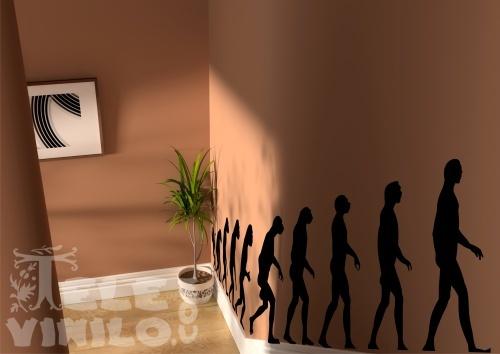 Vinilos Decorativos Original Evolución Del Hombre Comprar