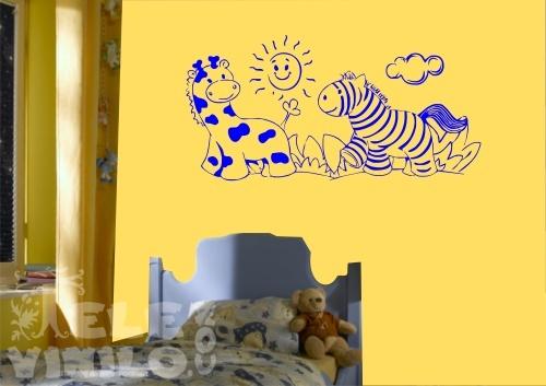Vinilos decorativos infantiles jirafa y cebra comprar en for Vinilos por internet