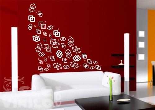 Vinilos decorativos adhesivos geom tricos cuadrados for Vinilos por internet