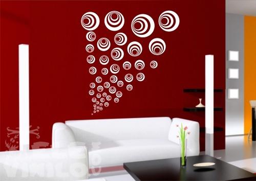 Vinilos decorativos adhesivos geom tricos circulos for Vinilos adhesivos para paredes de banos