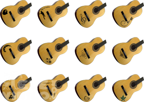 Vinilos Decorativos Guitarras Comprar En Tienda Online Venta Por