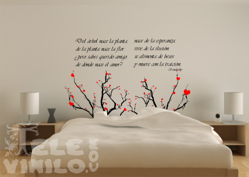 vinilos decorativos poemas de donde nace el amor