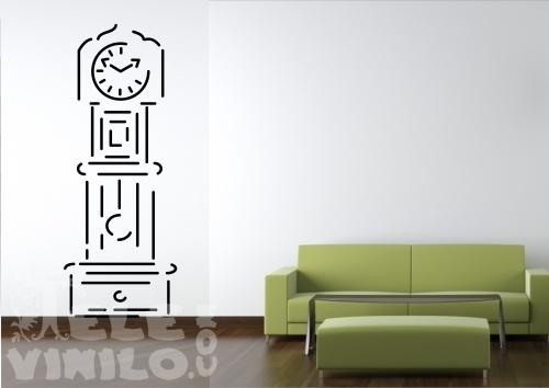 Vinilos decorativos original silueta reloj de pared - Reloj de pared adhesivo ikea ...