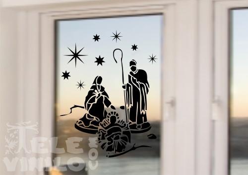 Vinilos decorativos navidad portal de bel n comprar en - Vinilos decorativos de navidad ...
