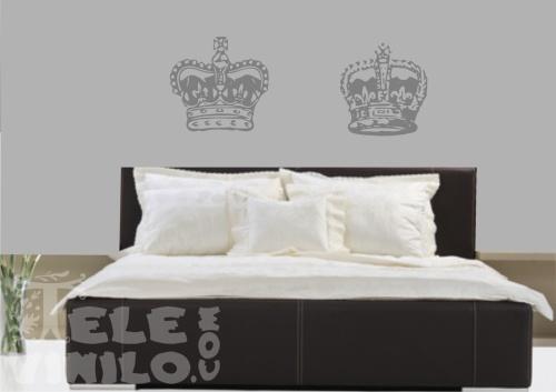 Vinilos decorativos original coronas rey y reina comprar en tienda online venta por internet - Frases para vinilos habitacion ...
