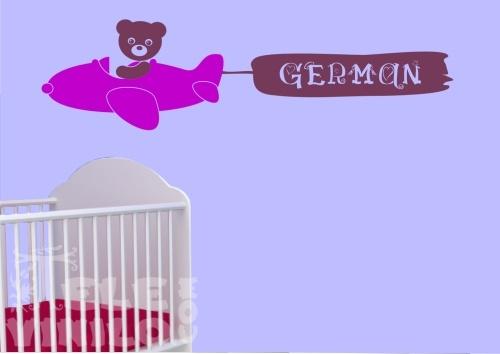 Vinilos decorativos infantiles avioncito con nombre for Vinilos por internet