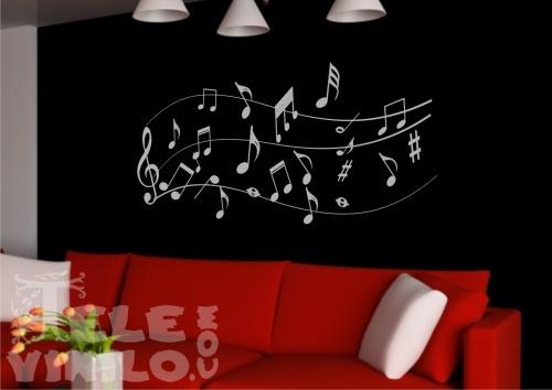 Vinilos decorativos adhesivos musicales pentagrama for Vinilos decorativos pentagrama musical
