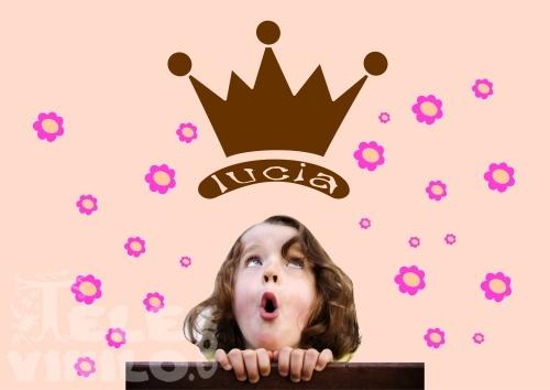 Vinilos Decorativos Infantil Corona Reina Niña Con Nombre Comprar
