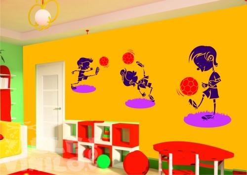 Vinilos decorativos infantiles ni os futbolistas comprar for Vinilos decorativos pared ninos