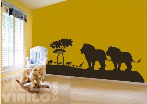 Vinilos decorativos infantiles leones en la selva for Vinilos por internet