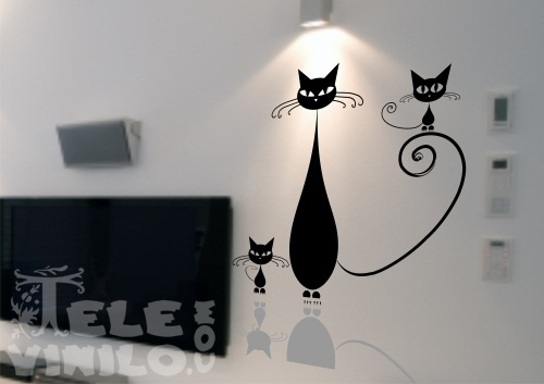 Vinilos adhesivos decorativos originales gatitos comprar for Adhesivos de vinilo decorativos