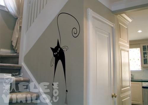 Vinilos adhesivos decorativos gatos comprar en tienda - Cristales decorativos para paredes ...
