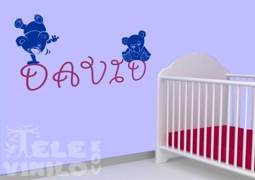 Vinilos adhesivos decorativos infantiles ositos con nombre for Adhesivos decorativos infantiles