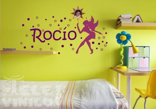 Vinilos decorativos infantiles hada madrina y nombre for Vinilos infantiles precios