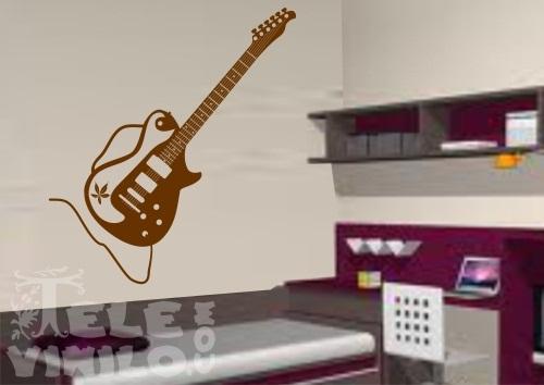 Vinilos decorativos musicales guitarra el ctrica comprar - Vinilos decorativos musicales ...