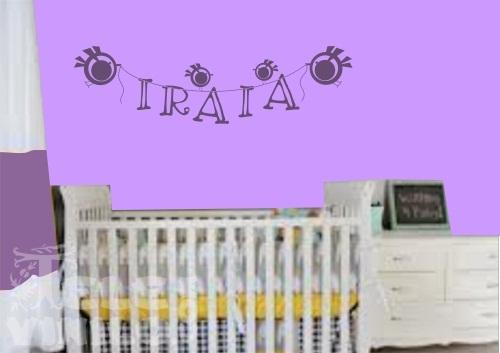 Vinilos decorativos infantiles letras colgadas comprar for Vinilos por internet