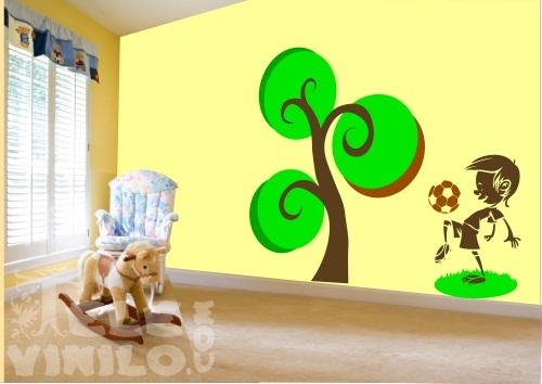 vinilos decorativos adhesivos rboles infantiles