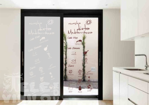 Vinilos decorativos puertas y ventanas de cristal for Vinilos para banos y cocinas