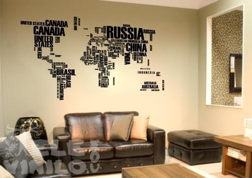 Vinilos decorativos originales mapamundi comprar en for Vinilos originales pared