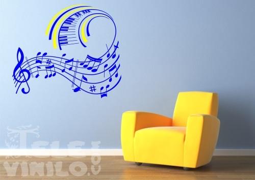Vinilos adhesivos decorativos musicales comprar en for Vinilos por internet