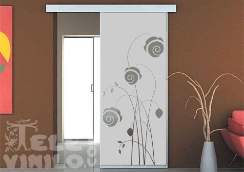 Vinilos decorativos adhesivos puertas y ventanas cristal - Cristales decorativos para paredes ...