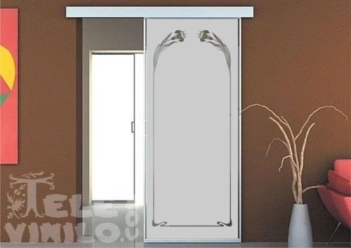 Vinilos decorativos adhesivos puertas y ventanas cristal - Puertas con vinilo ...