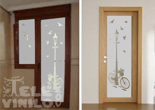 Vinilo puerta cocina cristal materiales de construcci n - Cristales decorativos para puertas de interior ...