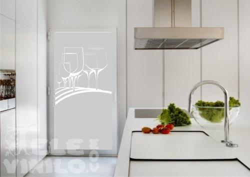 Vinilos decorativos adhesivos puertas y ventanas cristal - Vinilos cocina cristal ...