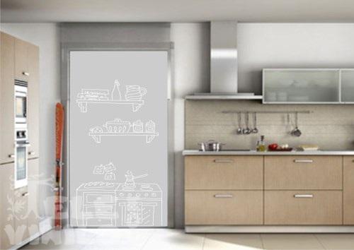 Vinilos decorativos adhesivos puertas y ventanas cristal - Vinilo cocina cristal ...
