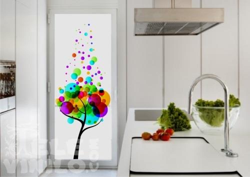 Vinilos imagenes color para puertas y ventanas cristal for Vidrios decorados para puertas interiores