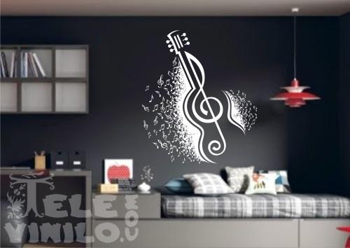 Vinilos decorativos adhesivos musicales comprar en - Vinilos decorativos musicales ...