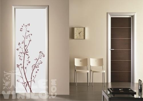 Vinilos decorativos para puertas y ventanas cristal - Cristales decorativos para paredes ...