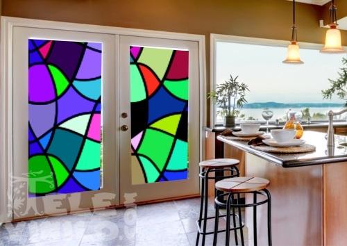 Vinilos imagenes color para puertas y ventanas cristal for Vinilos cristales ikea