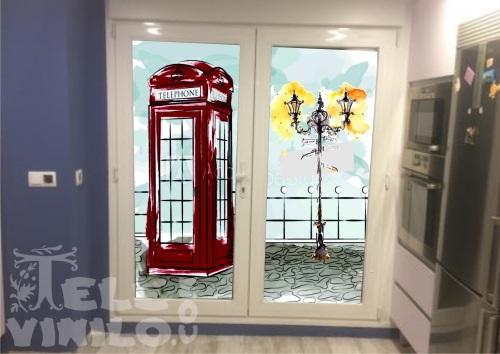 Vinilos ilustraciones para puertas y ventanas cristal - Vinilos puertas cristal ...