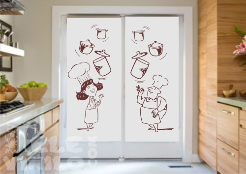 Vinilos decorativos para puertas y ventanas cristal - Vinilos para ventanas de cocina ...