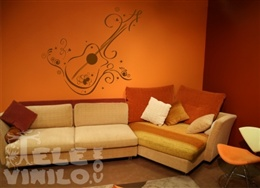 Vinilos Decorativos Musicales Guitarra Ornamental