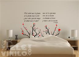 Vinilos decorativos poemas de donde nace el amor for Donde conseguir vinilos decorativos