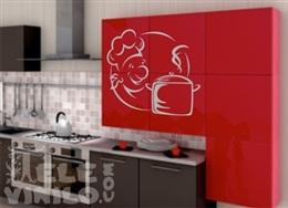 Vinilos adhesivos decorativos cocina cubiertos florales for Adhesivos decorativos para muebles